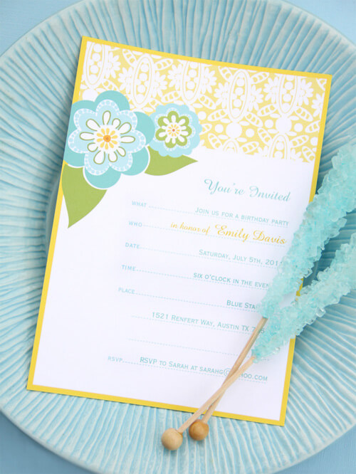 Free Invitation Printables Little