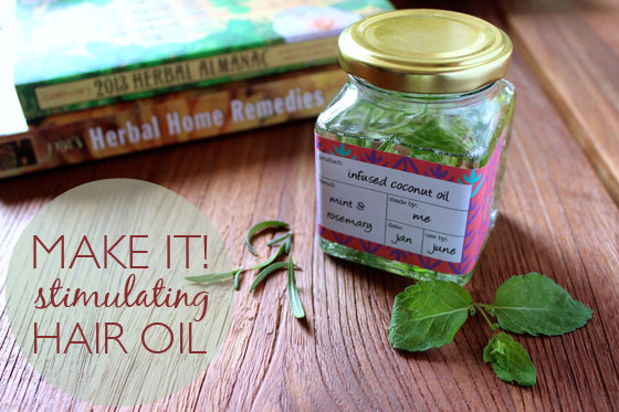 Stimulating Rosemary & Mint Hair Oil Recipe