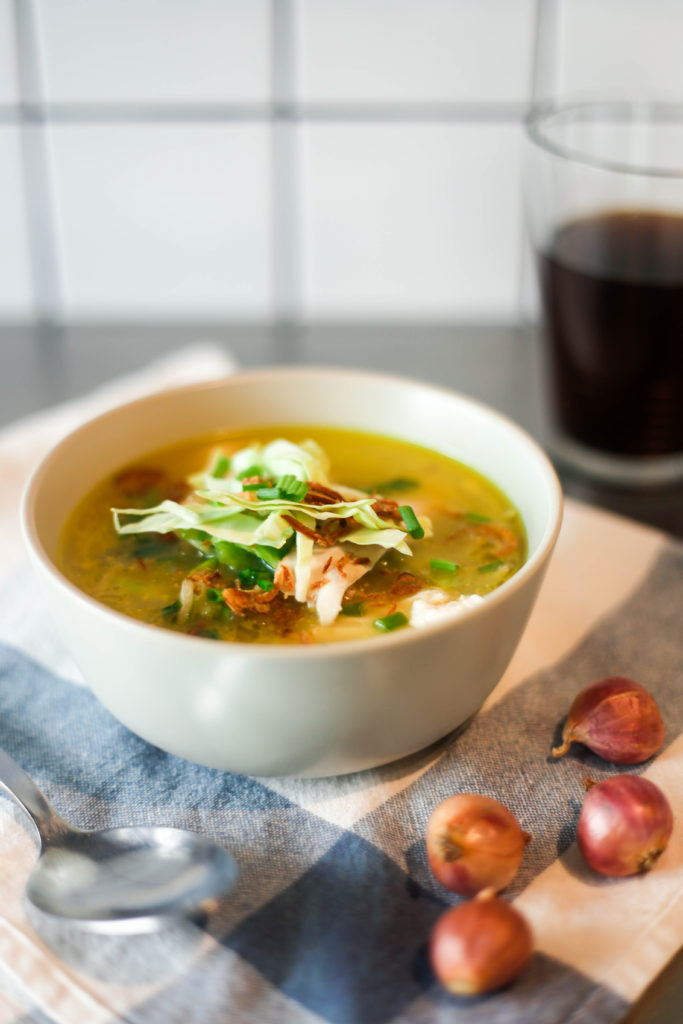 Indonesian chicken soup recipe reseteatclean the recipes in this series are all created by the nutritionist at the nutrition clinic to help you eat well its the holy trinity of a recipe easy to forumfinder Gallery