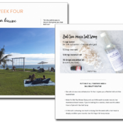 Look inside the 5 Week Bali Beauty Routine Ebook | littlegreendot.com