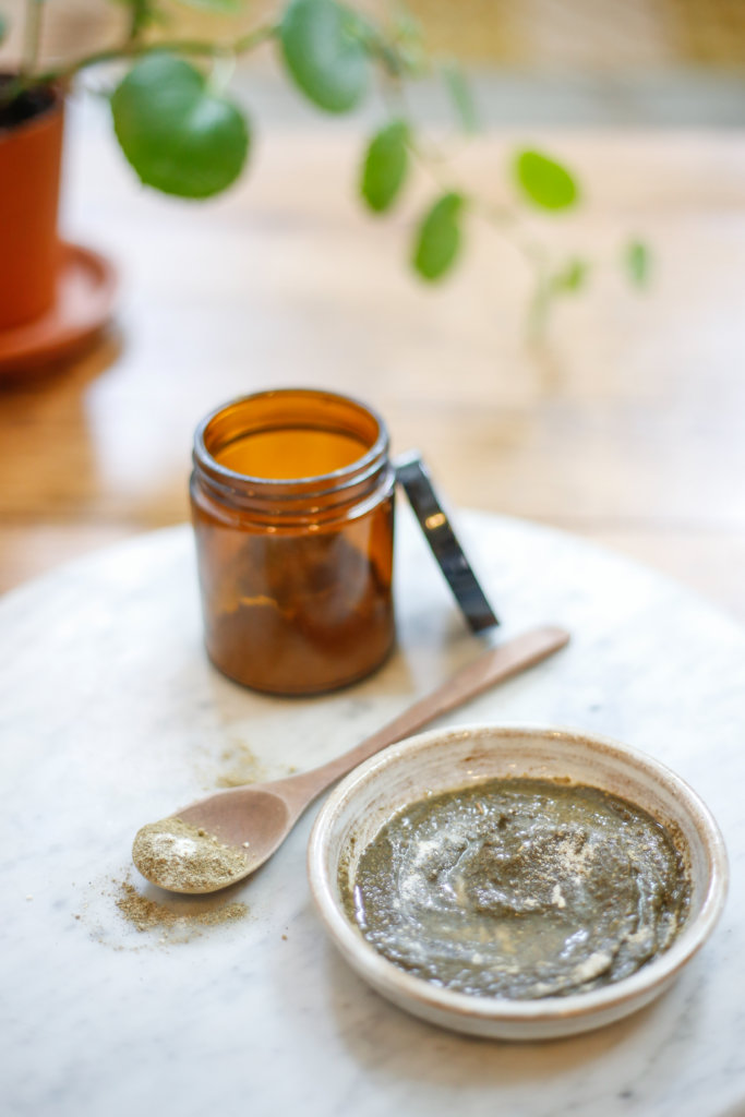 Herbal Powder Face Mask to soothe skin & mood.